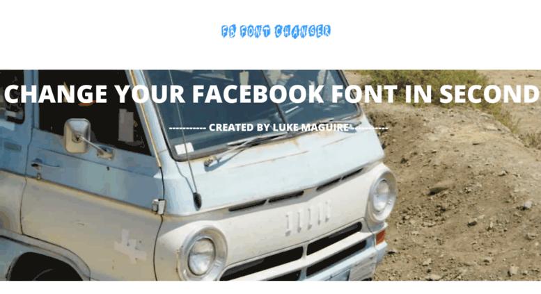 Access Fbfontchanger Com Facebook Stylish Font