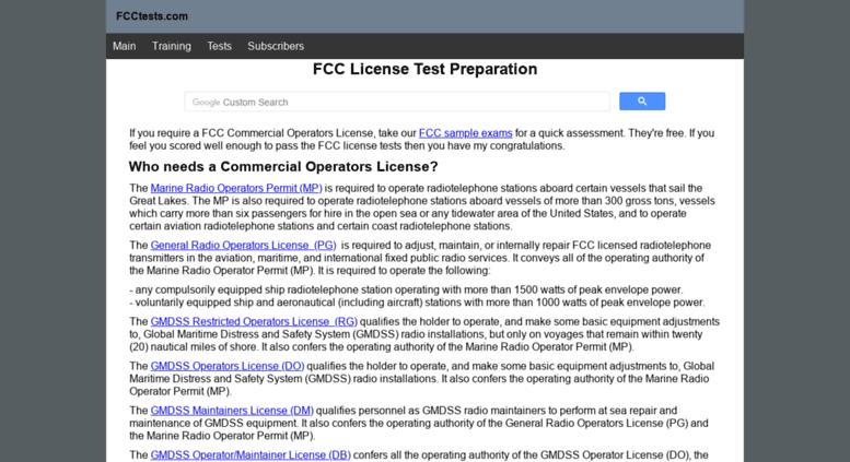 Access fcctests com  Online FCC License practice exams