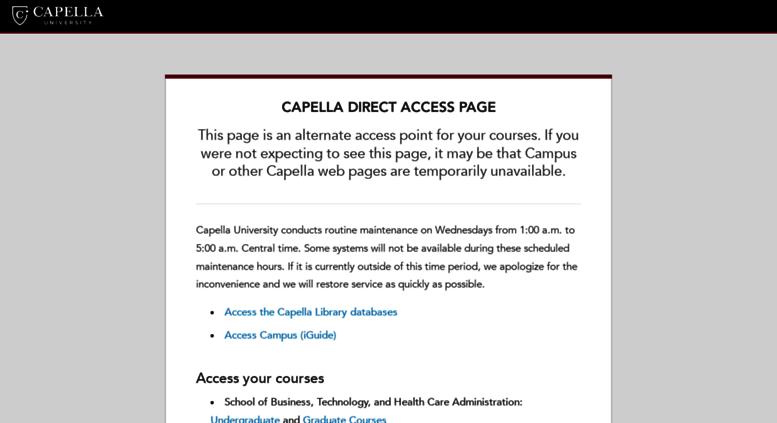 www capella edu login