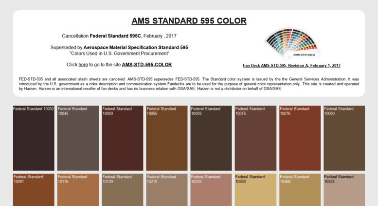Access federalstandardcolor com  Federal Standard Color and