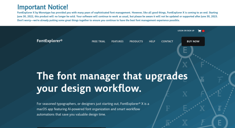 access fex linotype com fontexplorer x pro font management