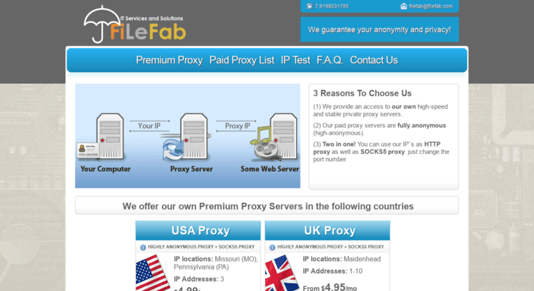 Access filefab com  Paid Proxy  Private Proxy Service  Home Page