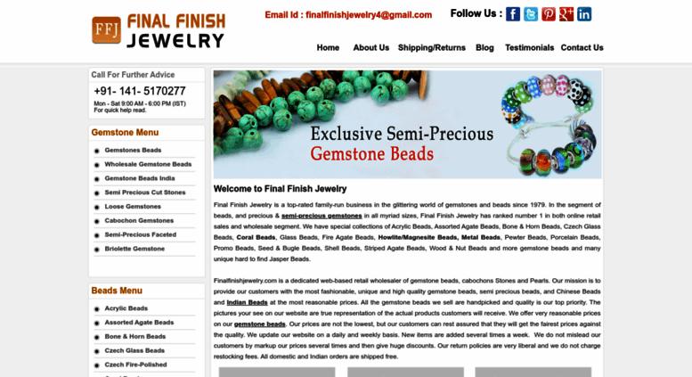Access finalfinishjewelry com  Wholesale Gemstone | Indian Gemstone