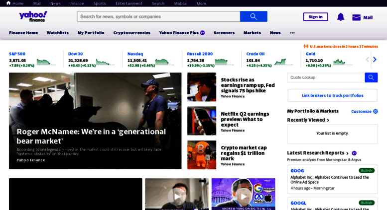 Access finance yahoo com  Yahoo Finance - Business Finance