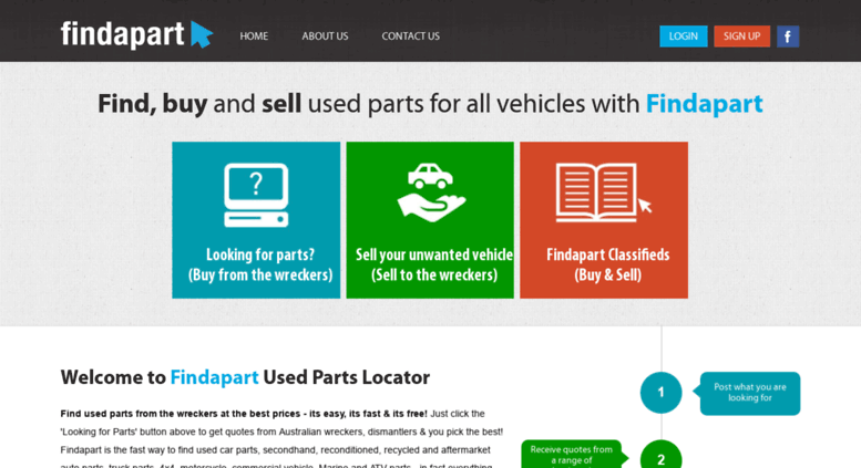 Used Parts Locator >> Access Findapart Com Au Wreckers Used Car Parts Auto Parts