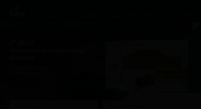 Access finesoftware eu  Geotechnical and Structural