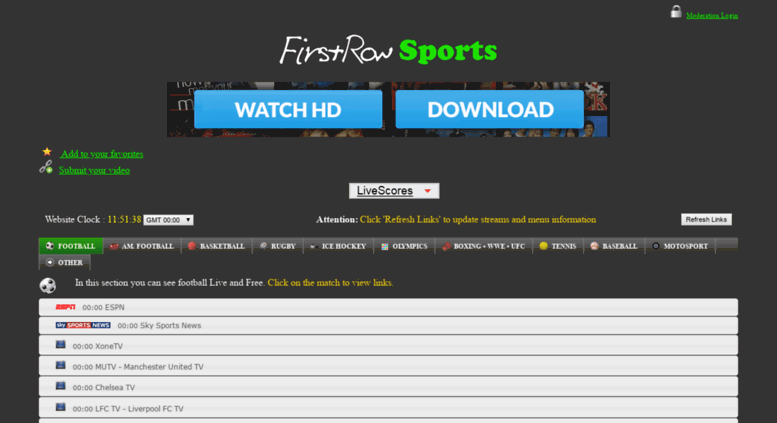 Firstrowsports Live Football Stream
