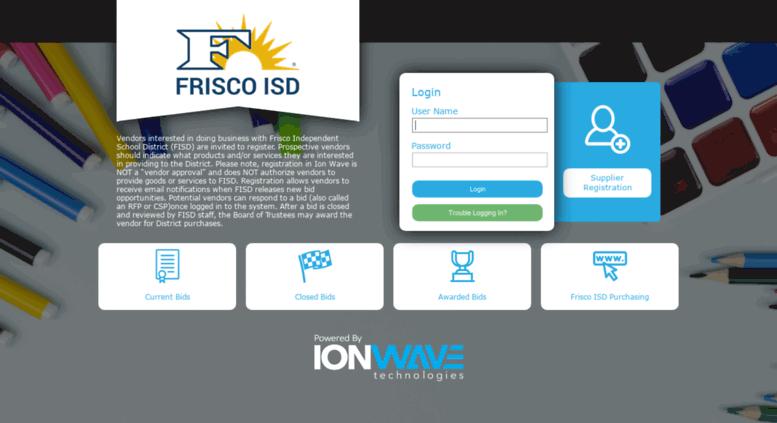 Access fisd ionwave net  Frisco ISD Bidding System