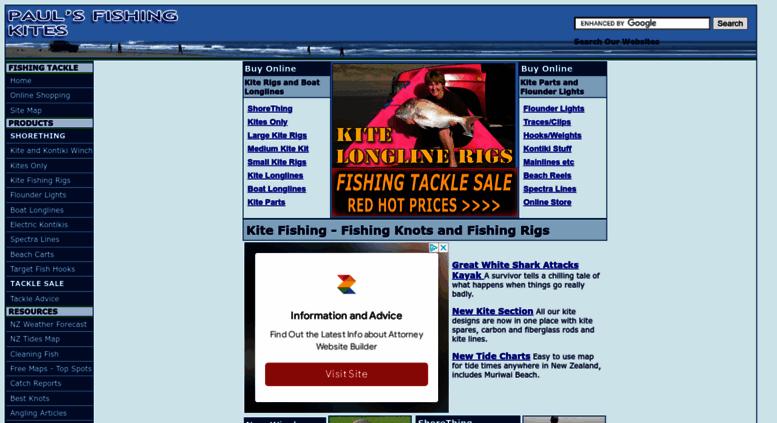 fishingkites co nz screenshot