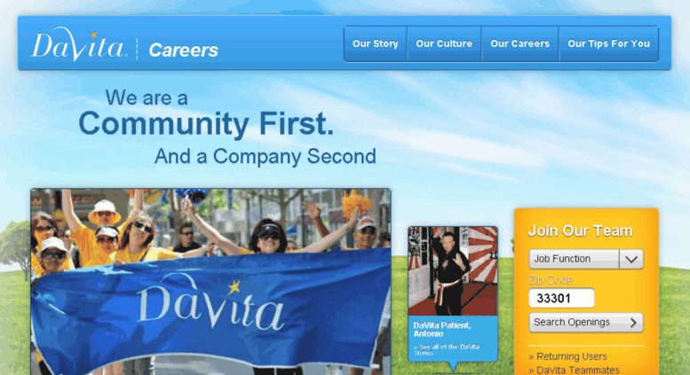 Access fit-finder-davita-careers gotpantheon com  Healthcare and