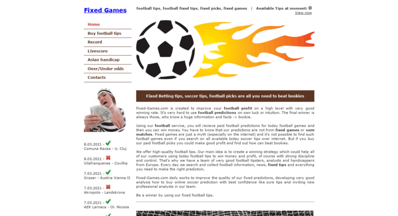 Access fixed-games com  Tips for football games, soccer