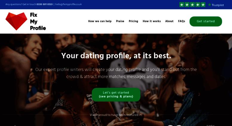 dating profile writer uk