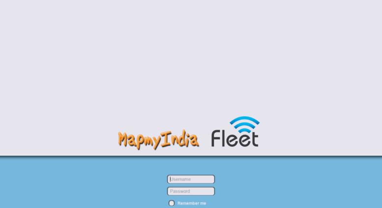 Access fleet.mapmyindia.com. MapmyIndia Fleet Login on