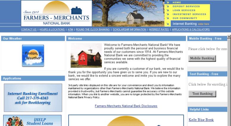 Access fmnbank com  Farmers-Merchants Bank of Illinois