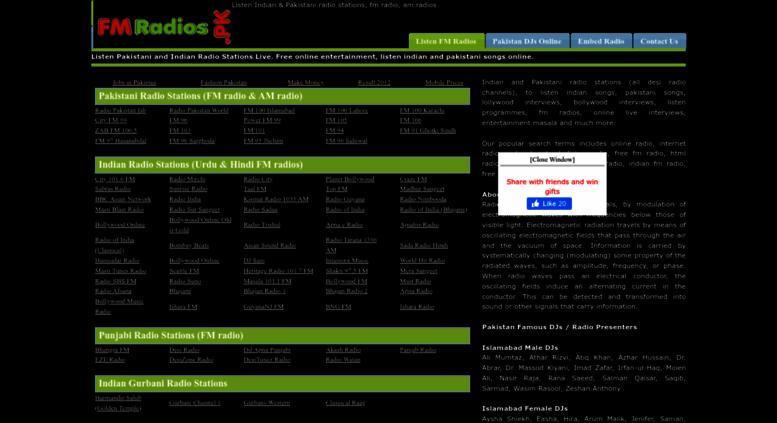 fmradios.pk screenshot