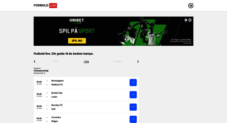 Live Fodbold