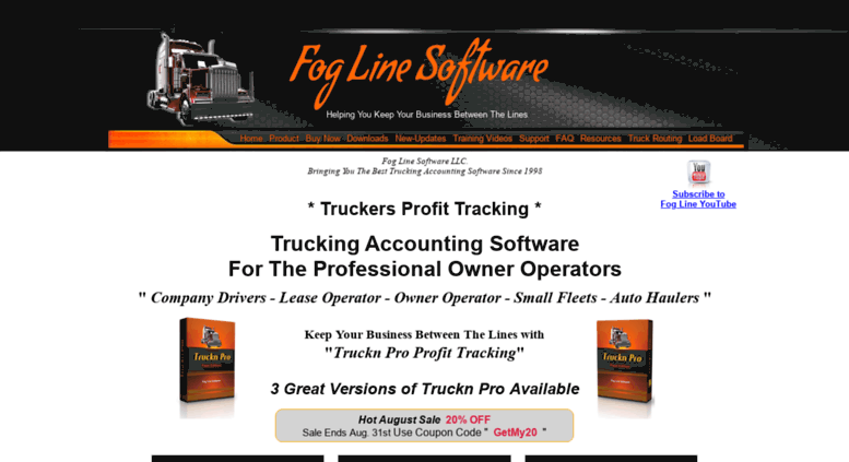 Access foglinesoftware com  Trucking Software | Owner