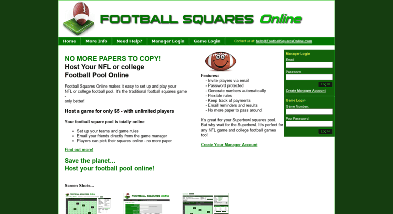 Access footballsquaresonline com  Football Pool - Play