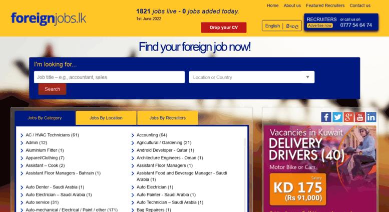 Access foreignjobs lk  Recruitment Agencies in Sri Lanka, Employment