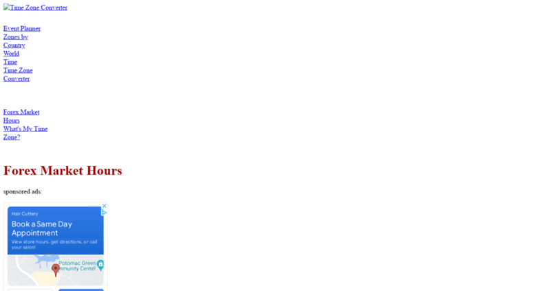 Forex Timezoneconverter Screenshot