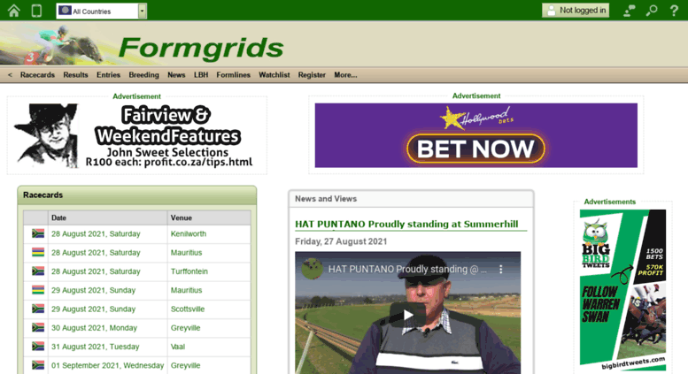 Access formgrids com  Formgrids - the horse racing form