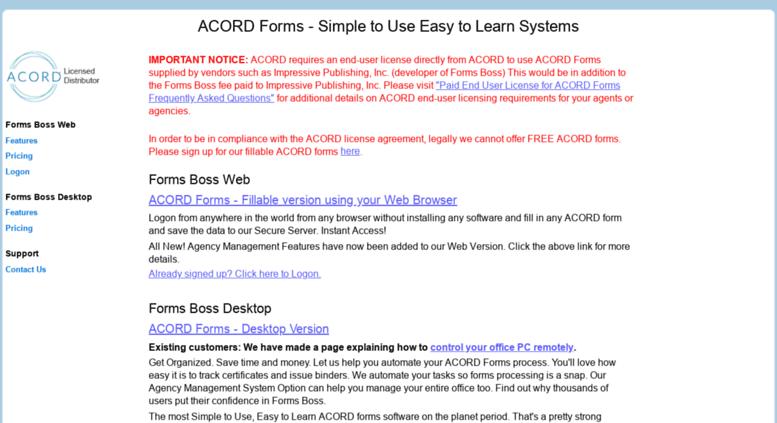 Access Formsboss Com Acord Forms Agency Management System Certificate Of Insurance Just sign in and go. access formsboss com acord forms
