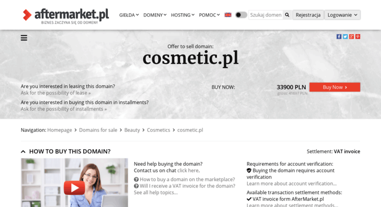 Access forum cosmetic pl  Offer to sell domain: cosmetic pl