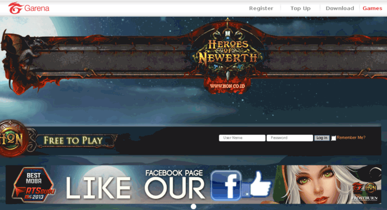 Access forum hon co id  Forum Garena Heroes of Newerth Indonesia