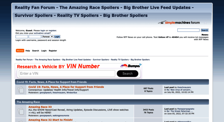 Access forum realityfanforum com  Reality Fan Forum - The