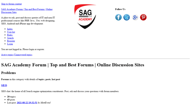 Access forum sagacademy com  SAG Academy Forum | Top and Best Forums