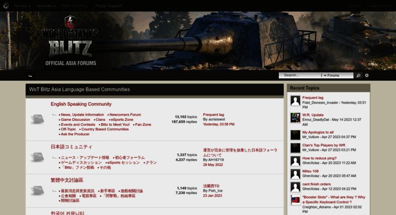 Access forum wotblitz asia  World of Tanks Blitz Official