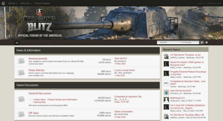 Access forum wotblitz com  World of Tanks Blitz official forum