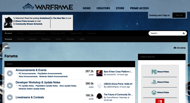 Access forums warframe com  Forums - Warframe Forums