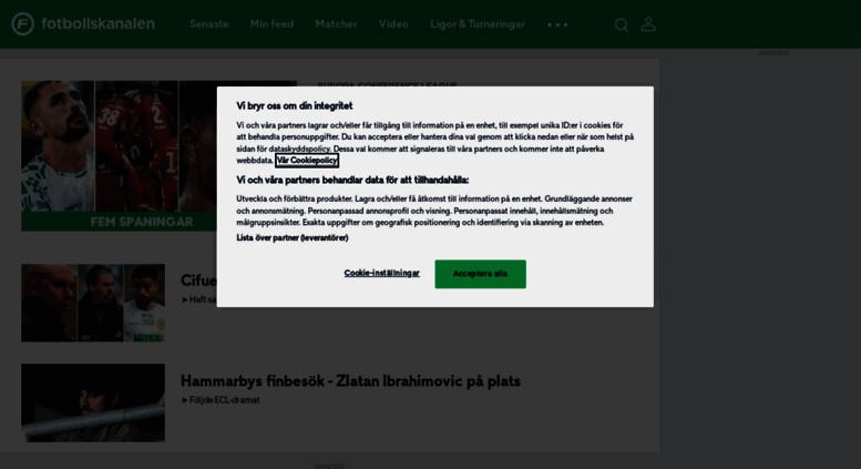 Access fotbollskanalen.se. För dig som älskar fotboll ... fed105ca46978