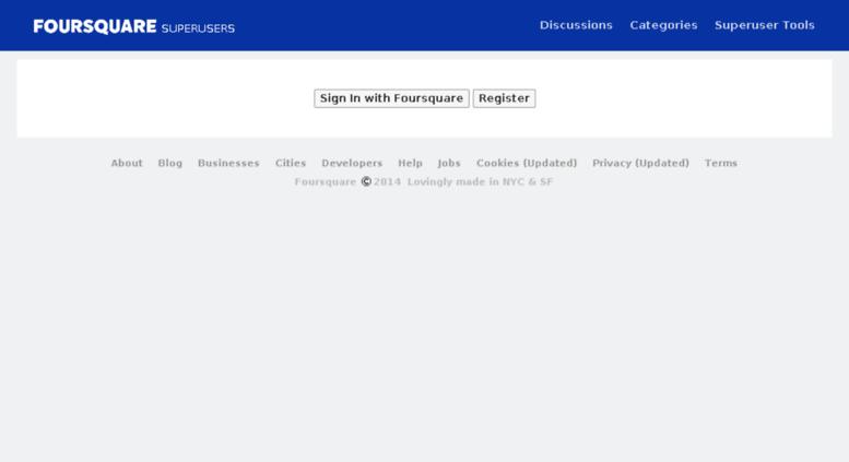 Access foursquare vanillaforums com  Sign In — Superuser Forums