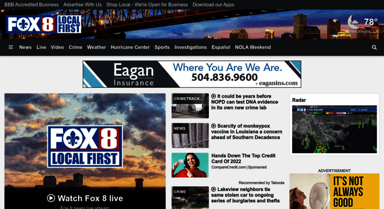 Access fox8live com  Home - New Orleans News, Weather