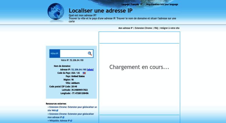 Carte des Visiteurs d'un Site Web
