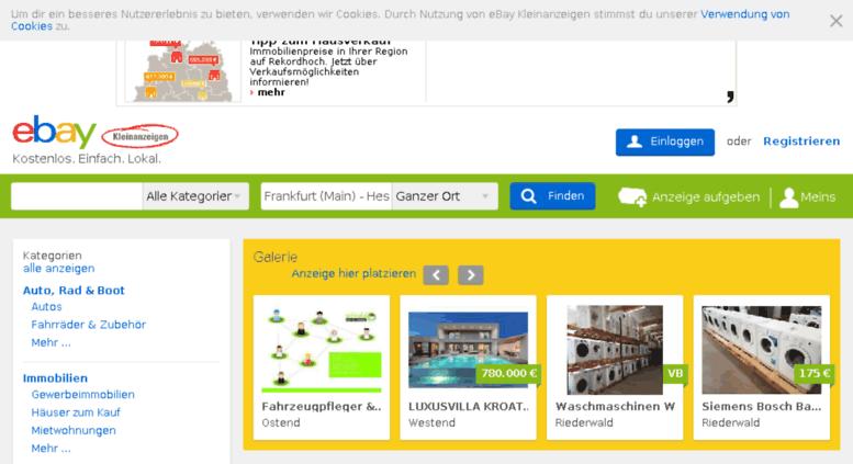 ebay kleinanzeigen in frankfurt