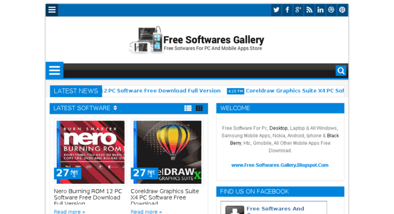 Access free-softwares-gallery blogspot com  Free Sotwares For PC And