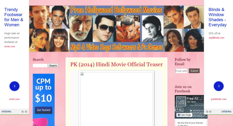 Access free4allmovie blogspot in  Free All Movies Mp3