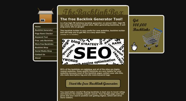 Access freebacklinkgenerator net  Free Backlink Generator