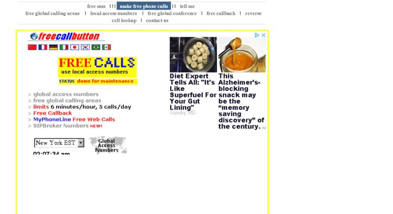 Access freecallbutton com  Free International Calls to Asia