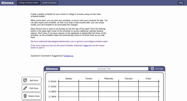 access freecollegeschedulemaker com free class schedule maker online