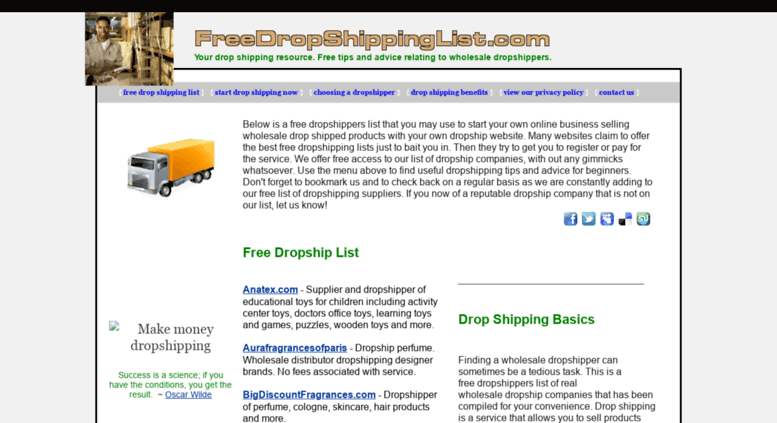 Access freedropshippinglist com  DropShip List and Wholesale