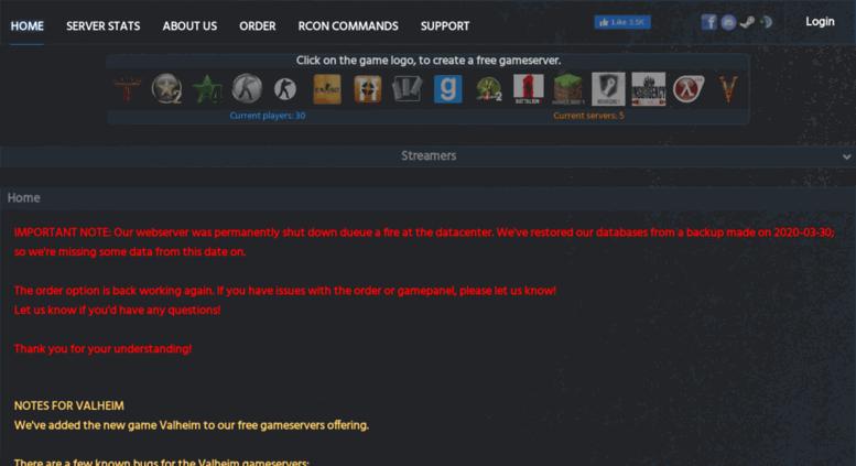 Access freegamehosting eu  FreeGameHosting - Because gaming