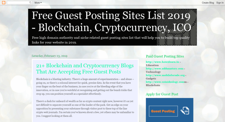 Access freeguestposting blogspot in  Free High Page Rank