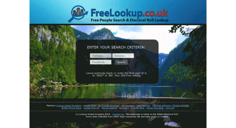 Access freelookup co uk  Free UK People Finder and Electoral