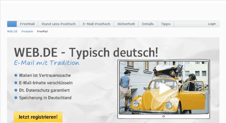 web.de freemail log in