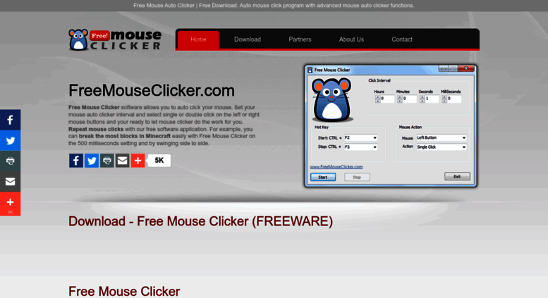 Access freemouseclicker com  Free Mouse Clicker