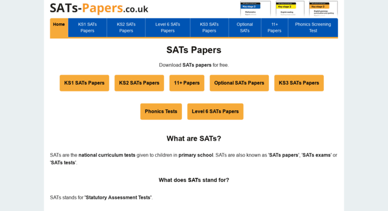 Image result for sats-papers.co.uk